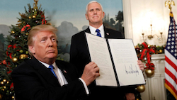 Trump reconnaît Jerusalem